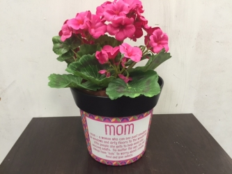 Mom keepsake pot